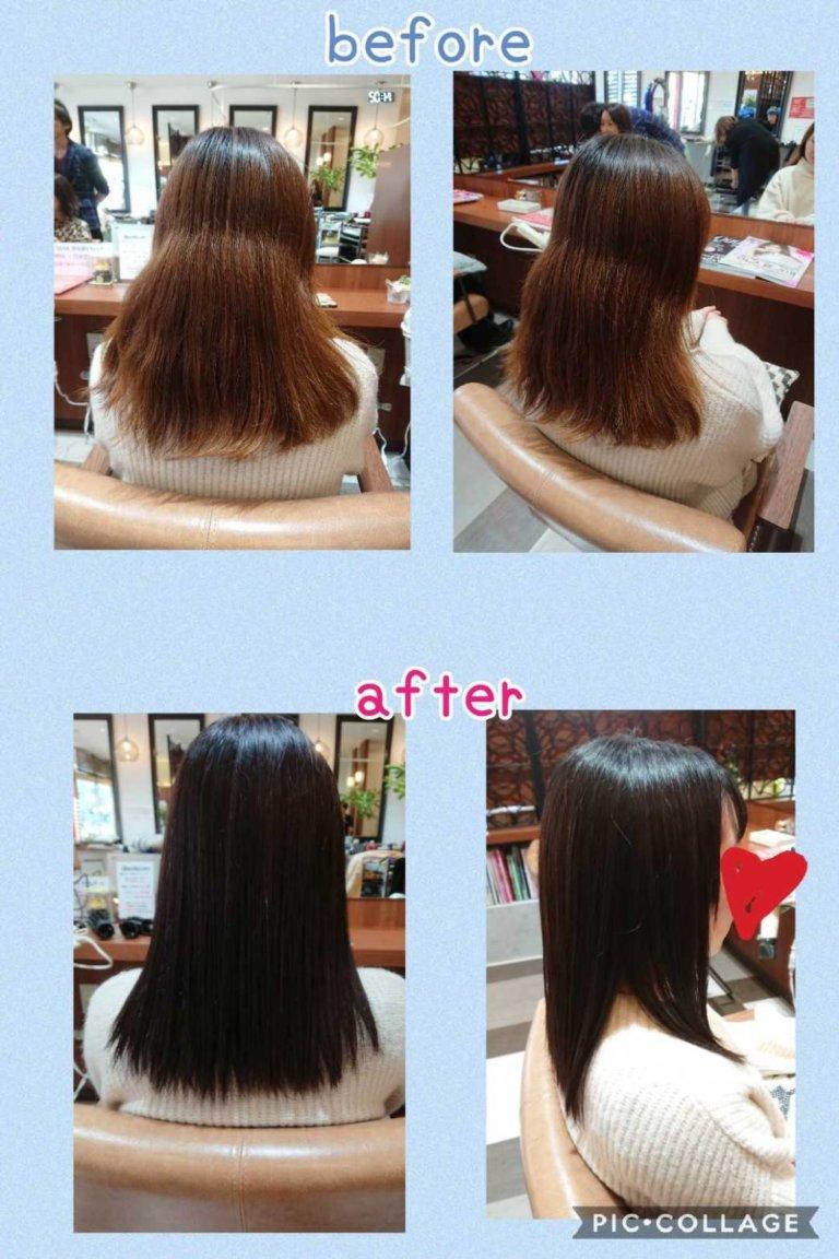 乾燥・紫外線は髪に大敵!優秀オーガニックカラー・毛髪再生トリートメントでうるツヤ髪へ☺